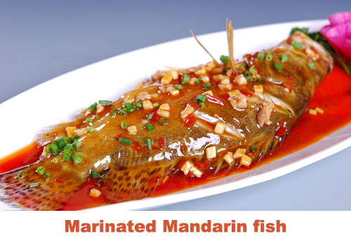 Marinated Mandarin fish