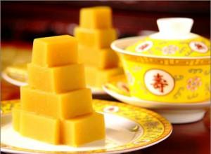 yellow pea cake