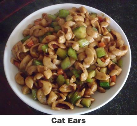 cat ears SHANXI FOOD