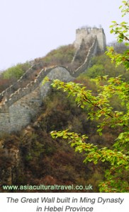 Great Wall built in Ming