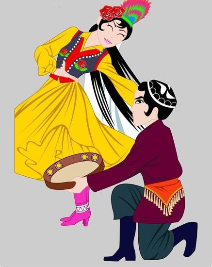 Uyghur dress